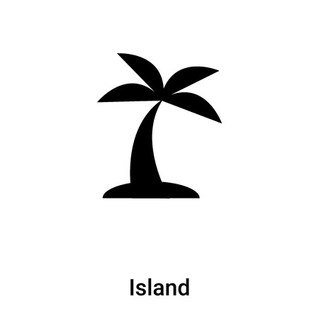 Island icon vector isolated on white background,  concept of Island sign on transparent background, filled black symbol