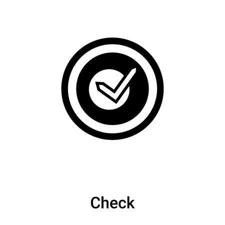 Check icon vector isolated on white background, concept of Check sign on transparent background, filled black symbol Иллюстрация