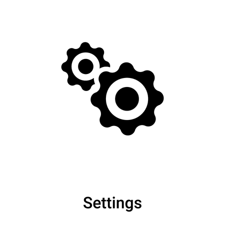 Settings icon vector isolated on white background,  concept of Settings sign on transparent background, filled black symbol Иллюстрация