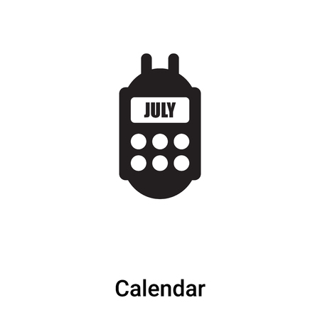 Calendar icon vector isolated on white background,  concept of Calendar sign on transparent background, filled black symbol Фото со стока - 121370105