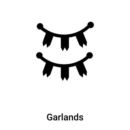 Garlands icon vector isolated on white background,  concept of Garlands sign on transparent background, filled black symbol Иллюстрация
