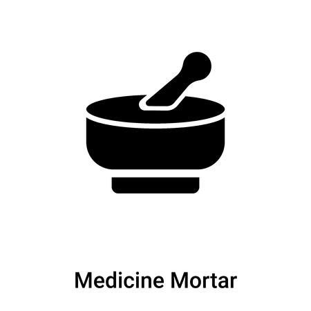 Medicine Mortar icon vector isolated on white background,  concept of Medicine Mortar sign on transparent background, filled black symbol Фото со стока - 121370115