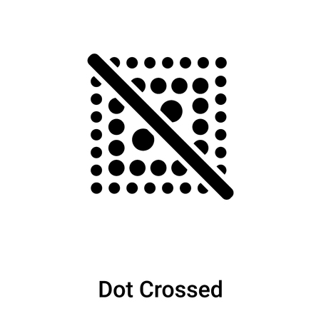 Dot Crossed icon vector isolated on white background,  concept of Dot Crossed sign on transparent background, filled black symbol