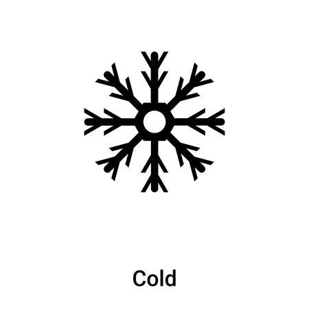 Cold icon vector isolated on white background,  concept of Cold sign on transparent background, filled black symbol Иллюстрация