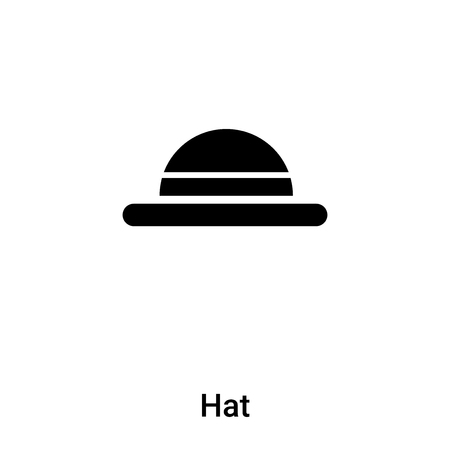 Hat icon vector isolated on white background,  concept of Hat sign on transparent background, filled black symbol Иллюстрация