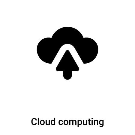 Cloud computing icon vector isolated on white background,  concept of Cloud computing sign on transparent background, filled black symbol Иллюстрация