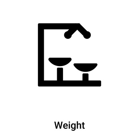 Weight icon vector isolated on white background,  concept of Weight sign on transparent background, filled black symbol