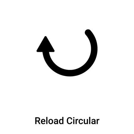 Reload Circular Arrow icon vector isolated on white background, concept of Reload Circular Arrow sign on transparent background, filled black symbol Иллюстрация