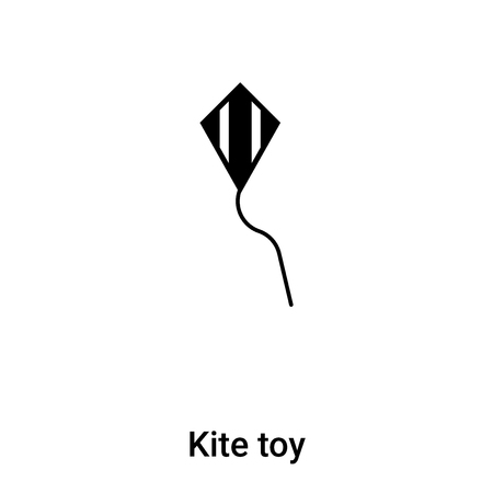 Kite toy icon vector isolated on white background,  concept of Kite toy sign on transparent background, filled black symbol
