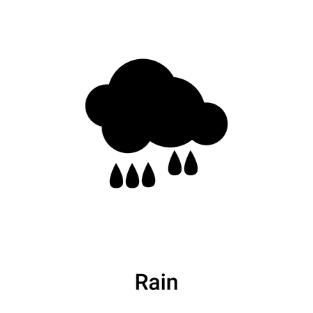 Rain icon vector isolated on white background,  concept of Rain sign on transparent background, filled black symbol Иллюстрация