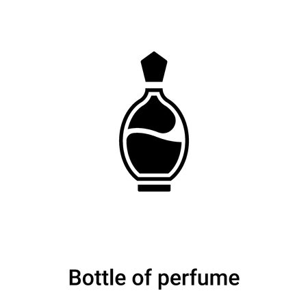 Bottle of perfume icon  vector isolated on white background,  concept of Bottle of perfume  sign on transparent background, filled black symbol