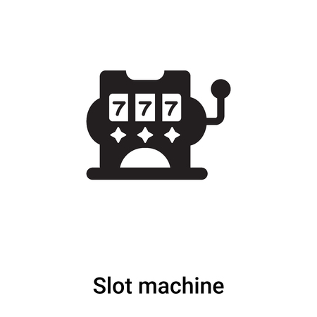 Slot machine icon vector isolated on white background,  concept of Slot machine sign on transparent background, filled black symbol