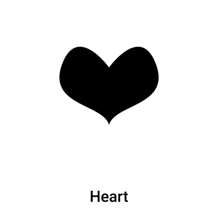 Heart icon vector isolated on white background, concept of Heart sign on transparent background, filled black symbol Фото со стока - 121372267