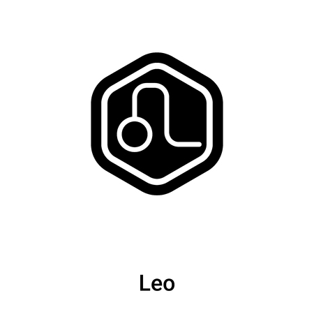 Leo icon vector isolated on white background,  concept of Leo sign on transparent background, filled black symbol Иллюстрация