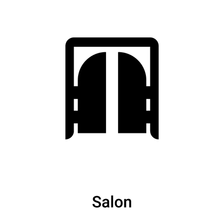 Salon icon vector isolated on white background,  concept of Salon sign on transparent background, filled black symbol
