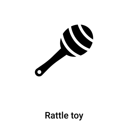 Rattle toy icon vector isolated on white background,  concept of Rattle toy sign on transparent background, filled black symbol