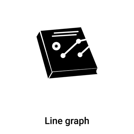 Line graph icon vector isolated on white background,  concept of Line graph sign on transparent background, filled black symbol Фото со стока - 121372273