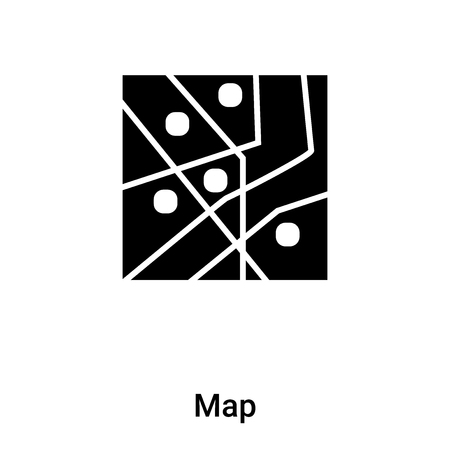 Map icon vector isolated on white background,  concept of Map sign on transparent background, filled black symbol Фото со стока - 121372279