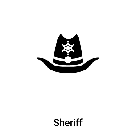 Sheriff icon vector isolated on white background,  concept of Sheriff sign on transparent background, filled black symbol Фото со стока - 121372281