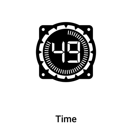 Time icon vector isolated on white background, concept of Time sign on transparent background, filled black symbol Фото со стока - 121372284