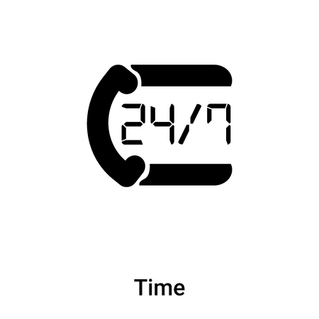 Time icon vector isolated on white background, concept of Time sign on transparent background, filled black symbol Banque d'images - 121372499