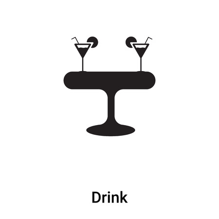 Drink icon vector isolated on white background, concept of Drink sign on transparent background, filled black symbol