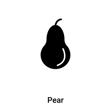 Pear icon vector isolated on white background,  concept of Pear sign on transparent background, filled black symbol