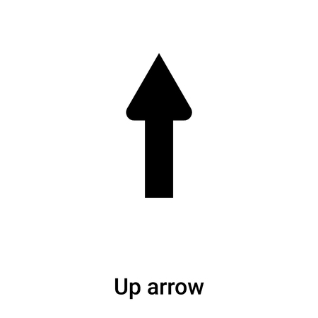 Up arrow icon vector isolated on white background,  concept of Up arrow sign on transparent background, filled black symbol