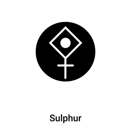 Sulphur icon vector isolated on white background,  concept of Sulphur sign on transparent background, filled black symbol