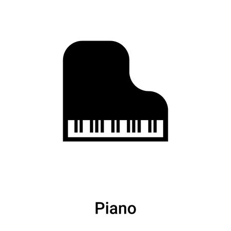 Piano icon vector isolated on white background,  concept of Piano sign on transparent background, filled black symbol
