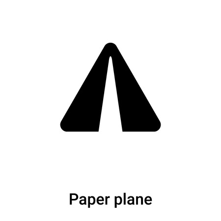 Paper plane icon vector isolated on white background, concept of Paper plane sign on transparent background, filled black symbol Illustration