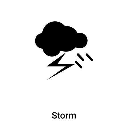 Storm icon vector isolated on white background,  concept of Storm sign on transparent background, filled black symbol