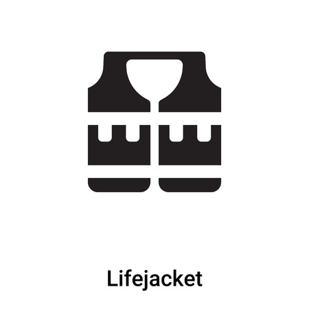 Life jacket icon vector isolated on white background, concept of Lifejacket sign on transparent background, filled black symbol