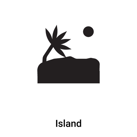 Island icon vector isolated on white background,  concept of Island sign on transparent background, filled black symbol Stok Fotoğraf - 121530554