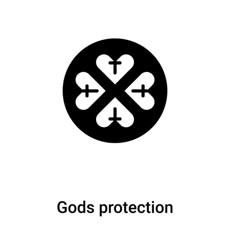Gods protection icon vector isolated on white background,  concept of Gods protection sign on transparent background, filled black symbol