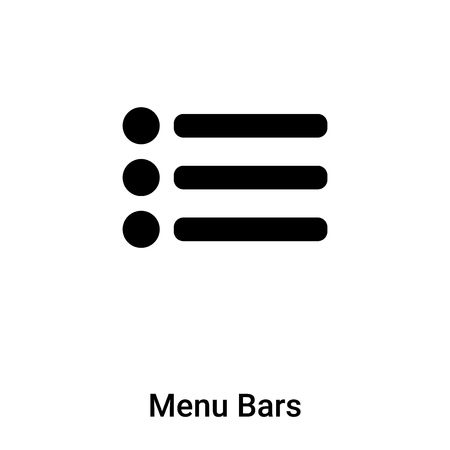 Menu Bars icon vector isolated on white background,  concept of Menu Bars sign on transparent background, filled black symbol Illustration