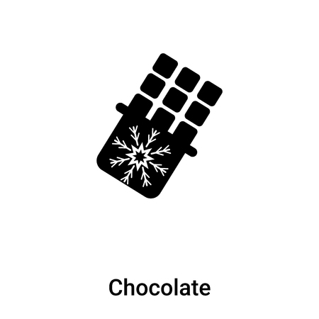 Chocolate icon vector isolated on white background,  concept of Chocolate sign on transparent background, filled black symbol