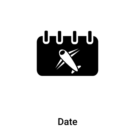 Date icon vector isolated on white background,  concept of Date sign on transparent background, filled black symbol Иллюстрация