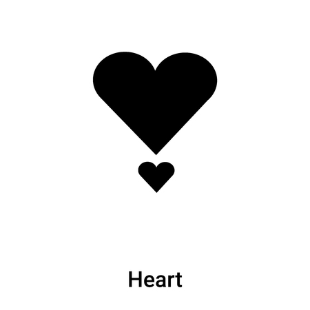 Heart icon vector isolated on white background, concept of Heart sign on transparent background, filled black symbol