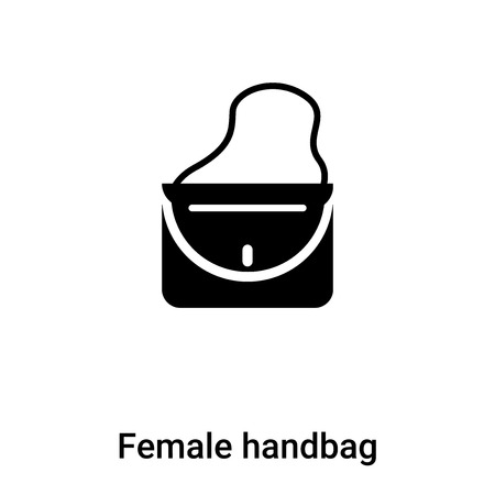 Female handbag icon  vector isolated on white background,  concept of Female handbag  sign on transparent background, filled black symbol Illustration