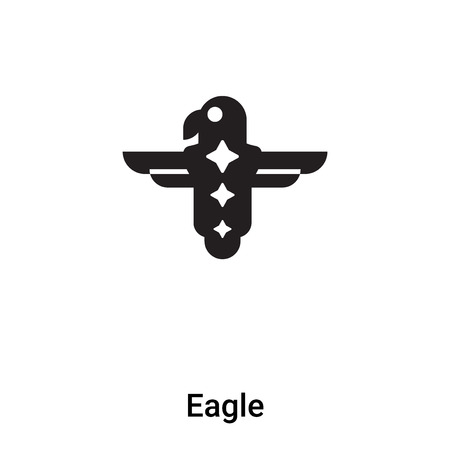 Eagle icon vector isolated on white background,  concept of Eagle sign on transparent background, filled black symbol