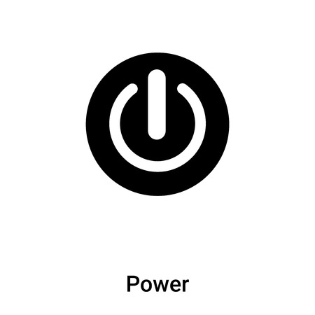 Power icon vector isolated on white background,  concept of Power sign on transparent background, filled black symbol Standard-Bild - 121530589