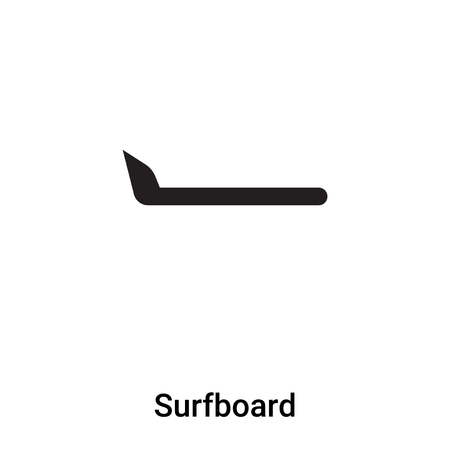 Surfboard icon vector isolated on white background,  concept of Surfboard sign on transparent background, filled black symbol
