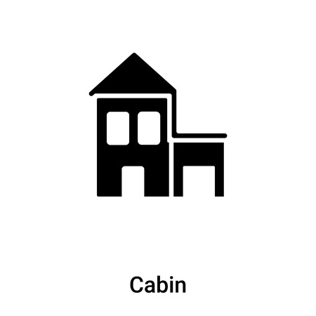 Cabin icon vector isolated on white background, concept of Cabin sign on transparent background, filled black symbol