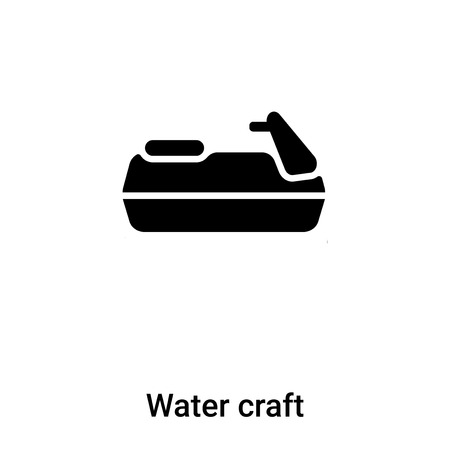 Water craft icon vector isolated on white background,  concept of Water craft sign on transparent background, filled black symbol