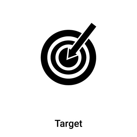 Target icon vector isolated on white background,  concept of Target sign on transparent background, filled black symbol