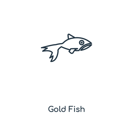 Gold Fish concept line icon. Linear Gold Fish concept outline symbol design. This simple element illustration can be used for web and mobile UI/UX.