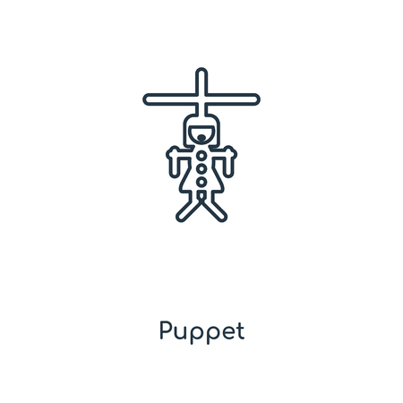 Puppet concept line icon. Linear Puppet concept outline symbol design. This simple element illustration can be used for web and mobile UI/UX. Illustration