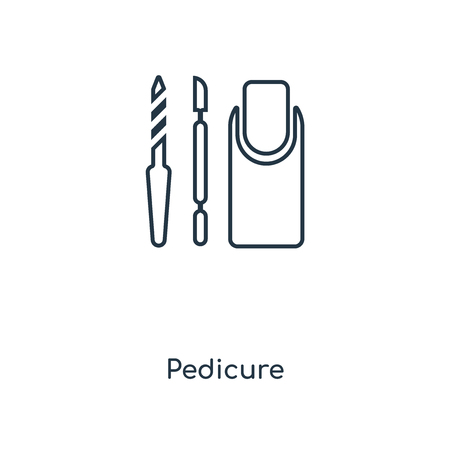 Pedicure concept line icon. Linear Pedicure concept outline symbol design. This simple element illustration can be used for web and mobile UI/UX. 向量圖像