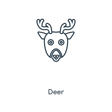 Deer concept line icon. Linear Deer concept outline symbol design. This simple element illustration can be used for web and mobile UI/UX.